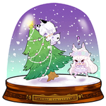 SNOWGLOBE(Christmas Tree)_Cottoneeh 2/2 by d-clua