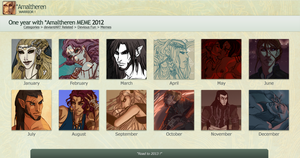 2012 in Art Meme by Amaltheren