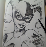 Harley Quinn quick sketch by romidion