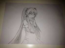 Hatsune Miku drawing by Roxarious