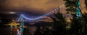 Lions Gate Bridge Vancouver by Bartonbo