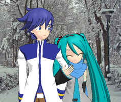 Winter Kaito and Miku by TotodileDash