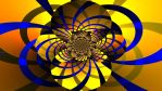 Yellow and Blue Abstract wallpaper by JanetAteHer