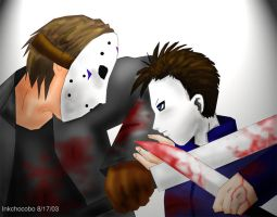 Michael VS Jason by inkchocobo