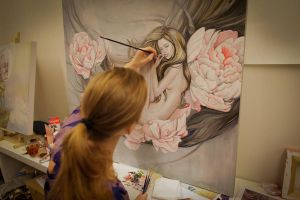 Working with oilpaint by Artjunk