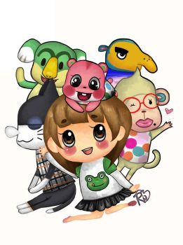 The crew, animal crossing new leaf by Ria-tan