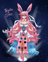 XY Gijinka- Valentine the Sylveon by FENNEKlNS