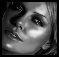 Charlize Digital Painting by thesoulcanwait