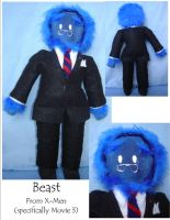 Hank McCoy Plushie by Jemi-Linked