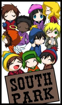 south park kids by m4kimaki