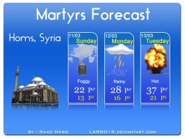 Martyrs Forcast in Homs by largo19