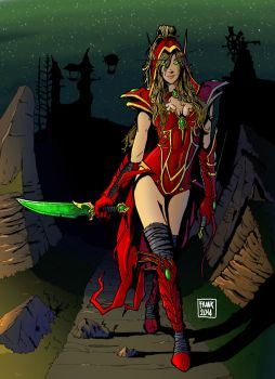 Valeera Sanguinar by Brenks