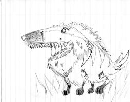 Aaron creatures: Alphahound sketch by Armonsterz
