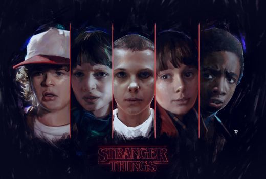 Stranger things Fan Art by pennywisdom01