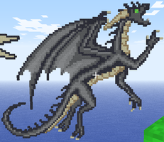 Black Dragon in Minecraft by NassuArt
