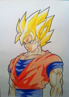 Super Saiyan Goku by RedDeadRAVAGE