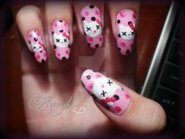 dead kitty nails by RooRhapsody