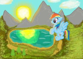 Flying Over Equestria by InkRose98