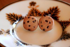 Tiny Cookie Earrings by AliceWHatter