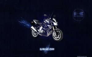 Kawasaki Z1000 blue wallpaper by IsK4nD3R