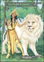Lion and Goddess Digital Download by lady-cybercat