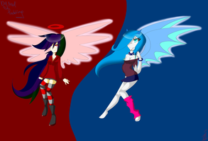 Angel and Demon by MelPudding