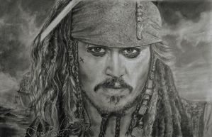 Johnny Deep alias Jack Sparrow by Chrispastel