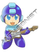 Megaman Rock On by Anta-Art