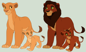 Kiara and Kovu (my movie colors) by MalisTLK