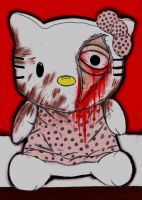 Hello Kitty Murder by charcoalman