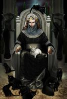 Ten cats of Queen Beruthiel by steamey