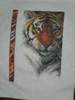 Tiger Cross-Stitch by missdusk