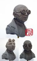 Professor Farnsworth Sculpture by artanis-one