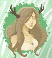 Deergirl Portrait by StevieWunderz