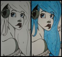Rhythm Before and after by NiveousLamia