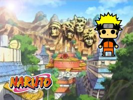 Chibi Naruto with Background by DrSketch24