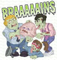 Zombie Vs T-Shirts - Krang by happymonkeyshoes