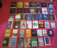 Wicca book collection by SapphoTheVampyrePoet