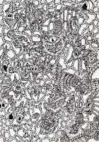 Blackbook - Monster Structure (Black and White) by Loggaa