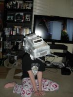 Star Wars AT-AT Costume. Finished head. by Seras-Loves-Master