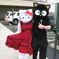Hello Kitty and Cat ACen 2010 by dunkler-adlig