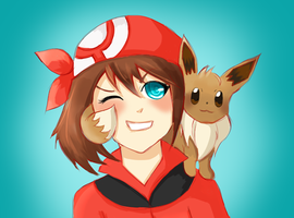 May and Eevee by Teka-L