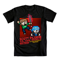Scott Pilgrim NES Shirt Design by deadpixxl