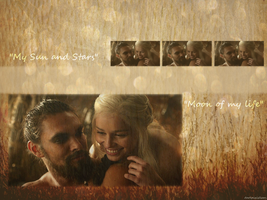 Drogo and Daenerys are so cute by DarkPixieTears