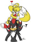 ShadowxTails: Glomp by The-Sonic-Lover-Club