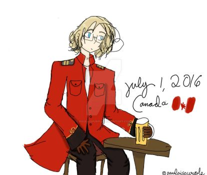 {aph} Canada day by paulaispurple