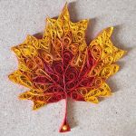 Autumn leaf - wall decoration by bohinj