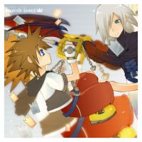 -Cardbreak- more riku 'n' sora by Starlight-Usagi