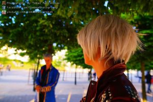 dante and vergil standing and watching by DanteJackpot