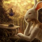 Dreamy Bunny and the little grape by LuzTapia